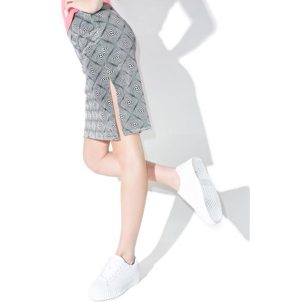Vortex Midi Skirt