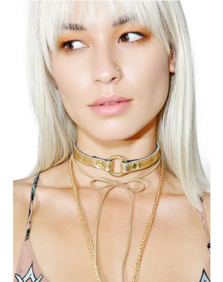 Gold Member O-Ring Choker