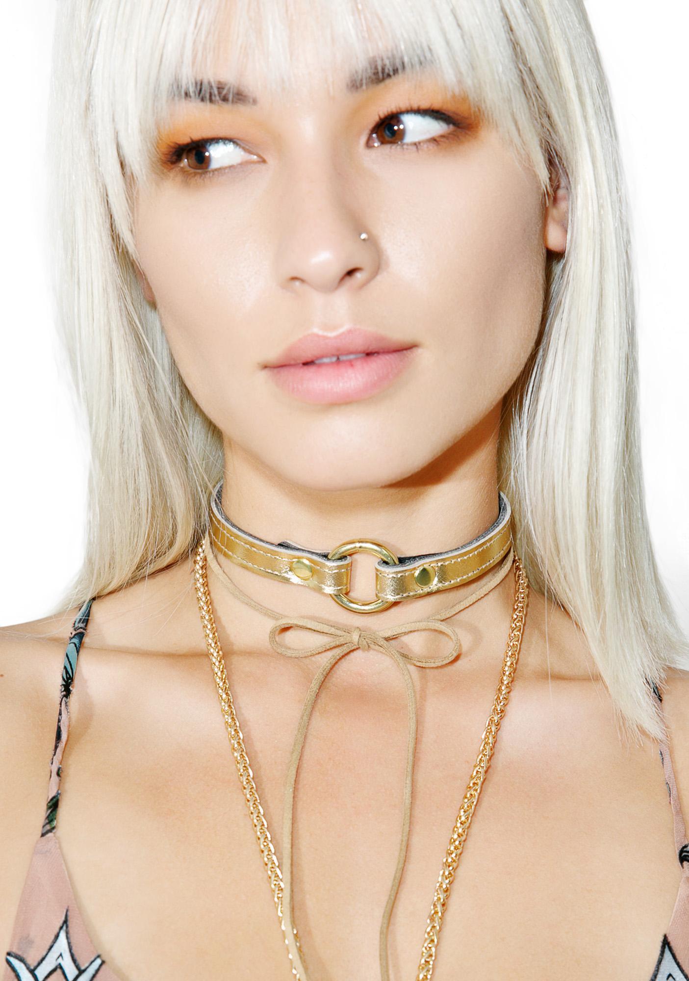 Club Exx Gold Member O-Ring Choker