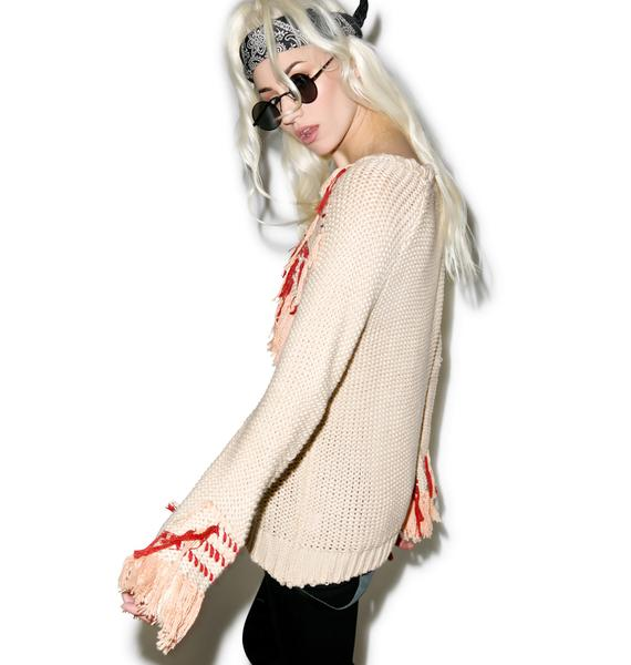 For Love & Lemons Denver Loom Knit Pullover