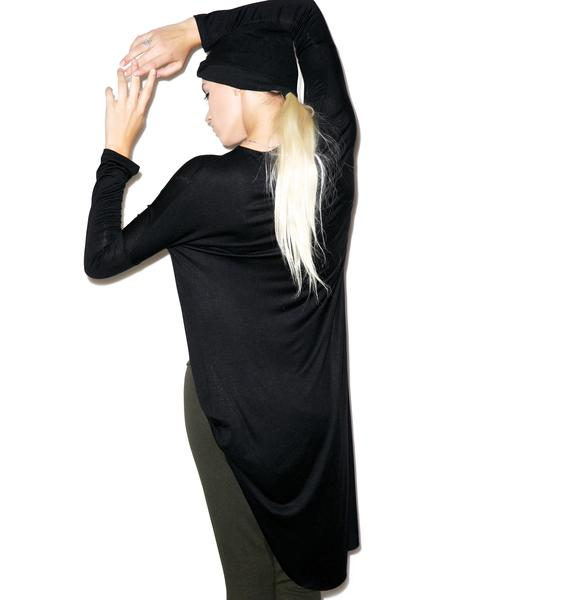 Aphrodite Draped Long Sleeve Top