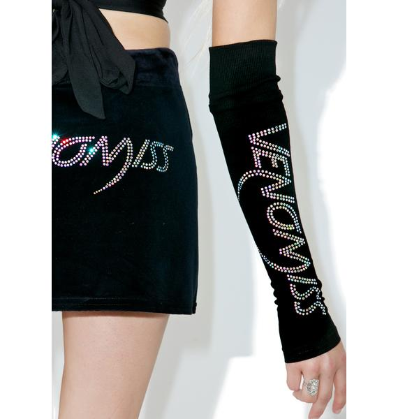 Venomiss NYC Crystal Logo Sleeves