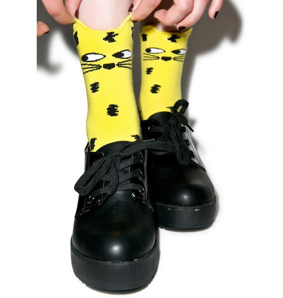 Lazy Oaf Leopard Socks