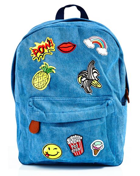 New Flair Patch Backpack