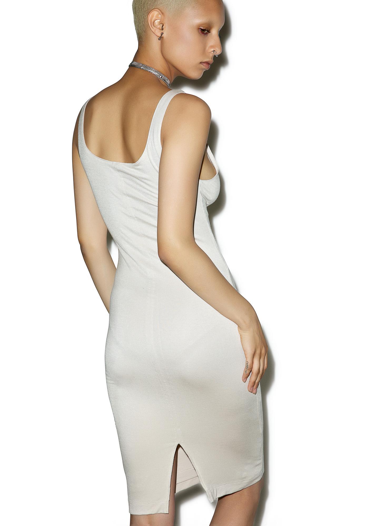 BLQ BASIQ Back Slit Tank Midi Dress
