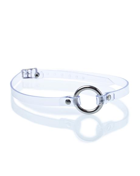 Clearly Content O-Ring Choker