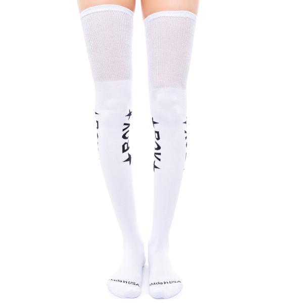 BOY London BOY Star Thigh High Socks
