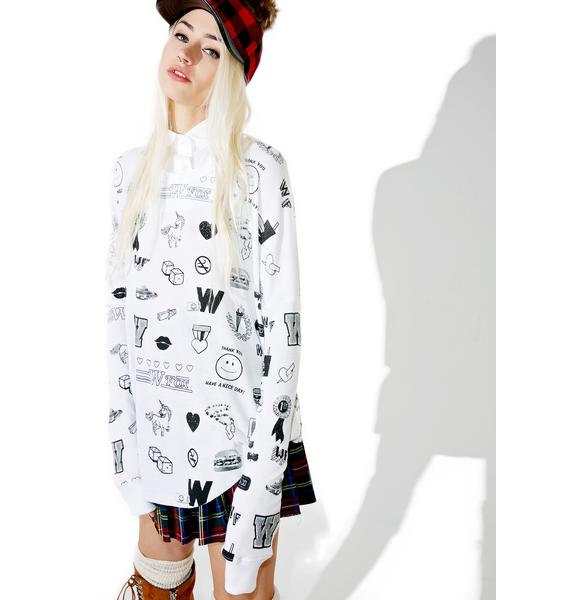 Wildfox Couture School Emojis Perry Thermal