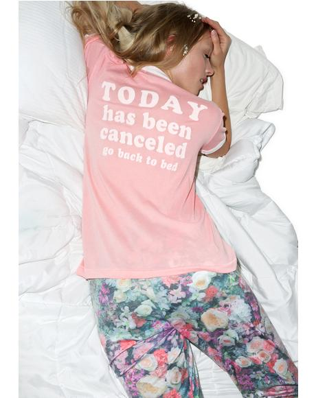 Today Has Been Cancelled Vintage Ringer Tee