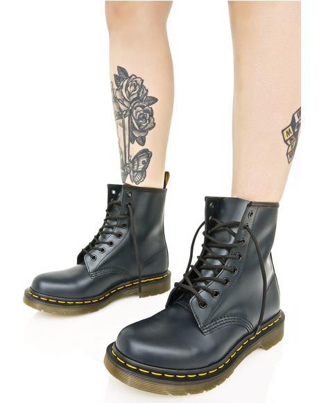 Navy 1460 8 Eye Boots