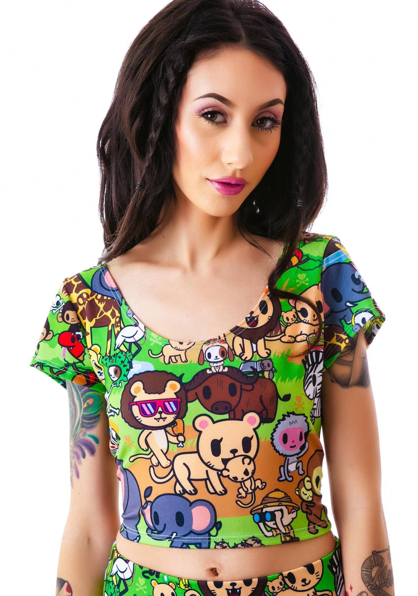 Japan L.A. x tokidoki Savannah Short Sleeve Crop Top