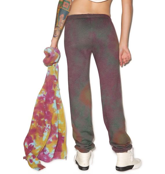Young, Wild And Serene Purple Haze Sweat Pants
