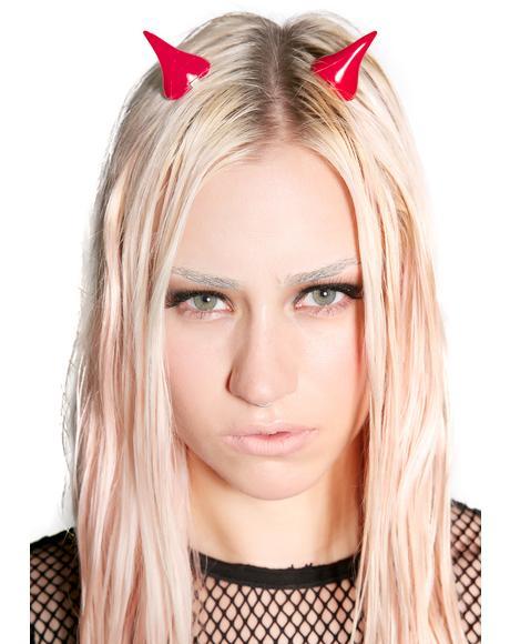 Horror Red Hair Horns