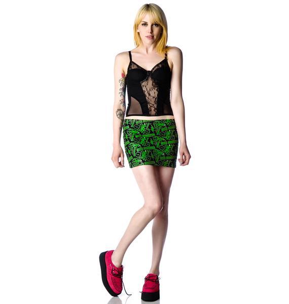 Kreepsville 666 Miss Monster Mini Skirt
