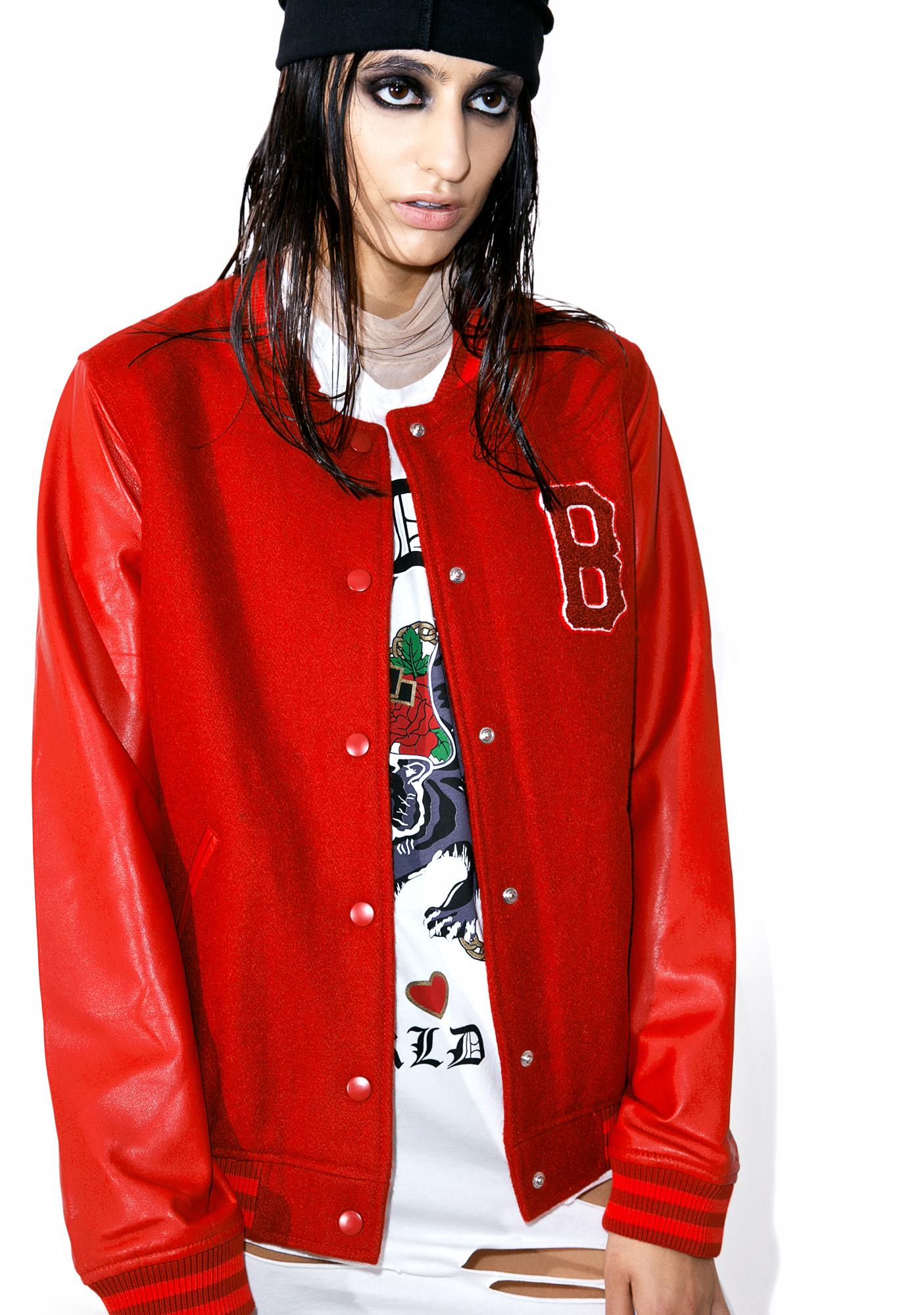 Black Scale Blood Of My Blood Varsity Jacket