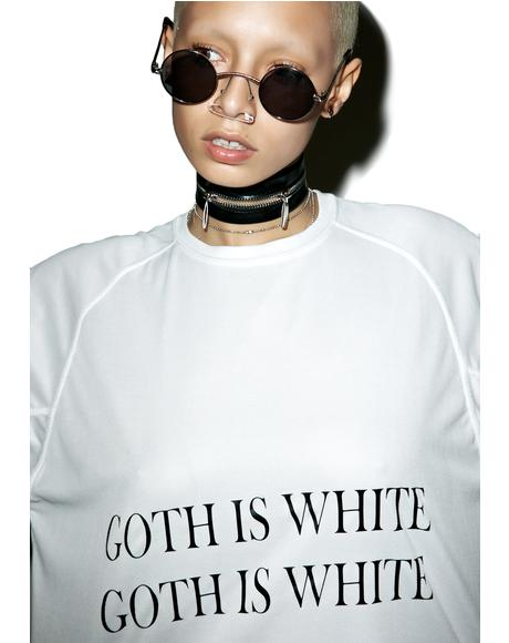 Goth Is White Tee