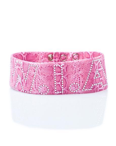 Pink Vipera Collar