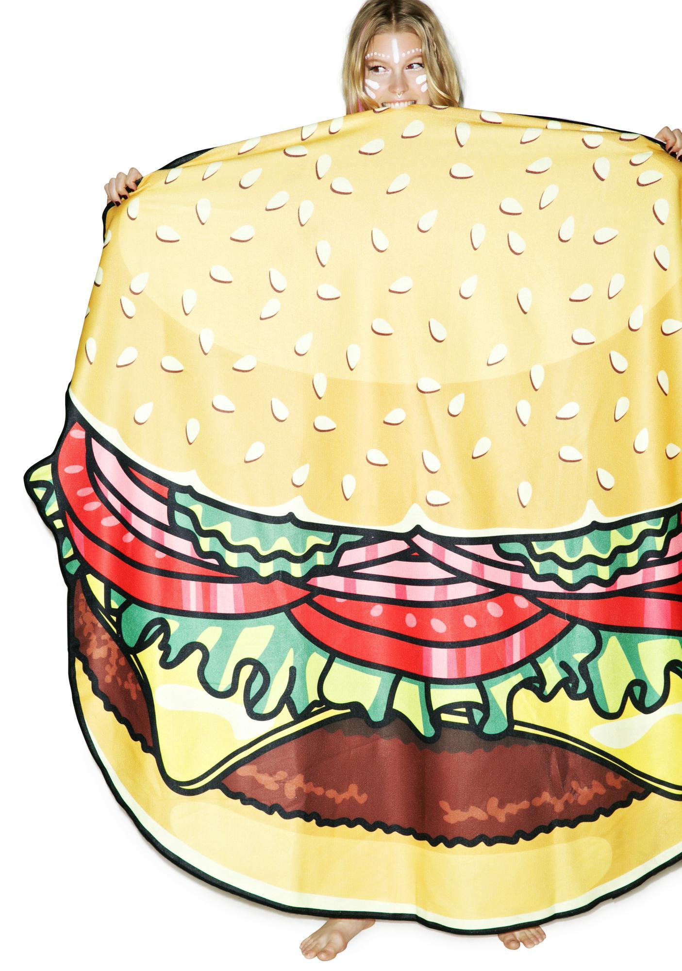 Burger Babe Beach Towel