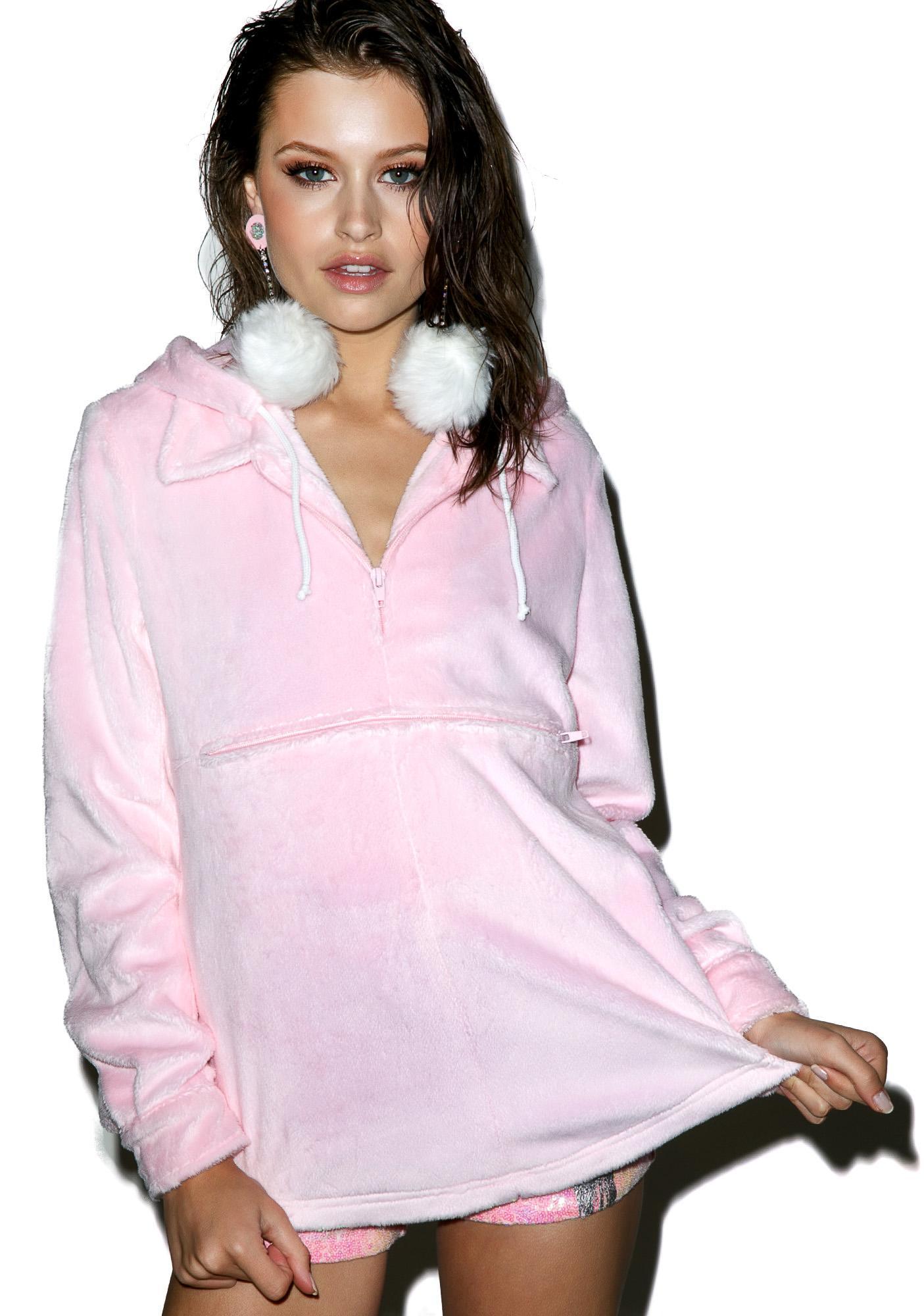 Sugarpills Faux Fur Pullover Hoodie