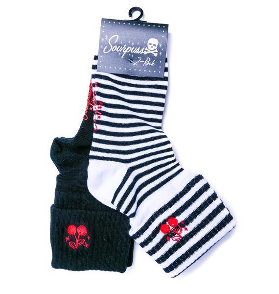 Sourpuss Clothing Cherries Socks Set