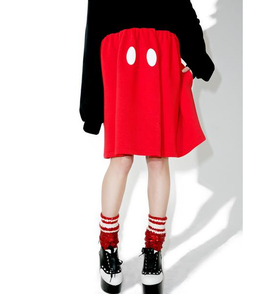 Lazy Oaf X Disney Mickey Mouse Sweater Dress