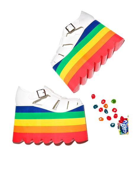 Double Rainbow Skylar Sandals