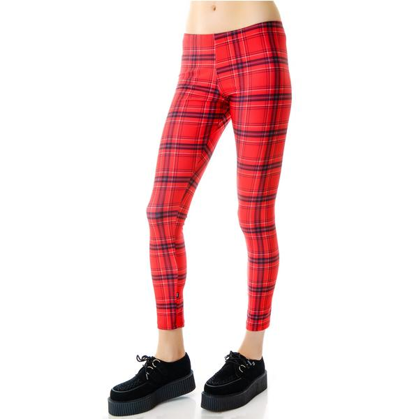 Zara Terez Red Plaid Leggings