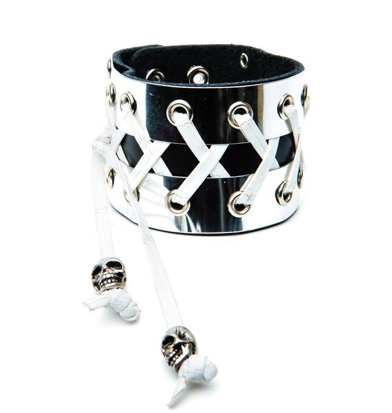Club Exx Fistful of Metal Corset Bracelet