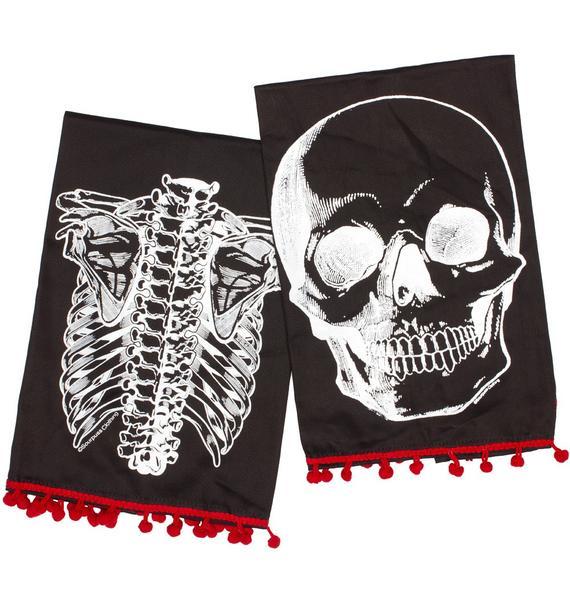 Sourpuss Clothing X-Ray Skeleton Tea Towel
