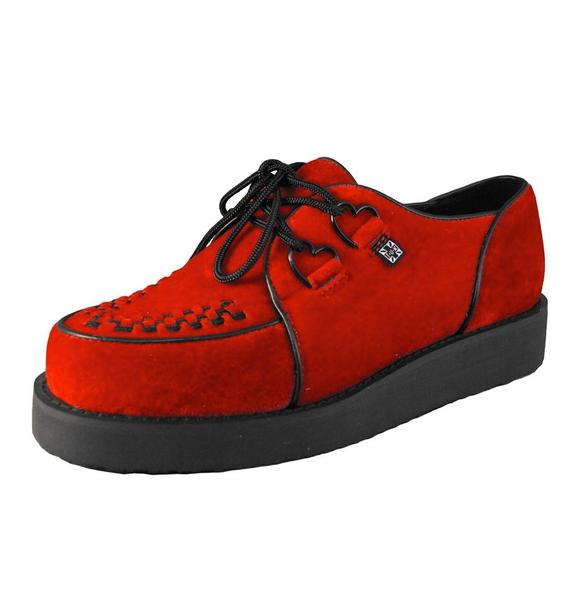 T.U.K. Red Velvet Smoothline Creeper