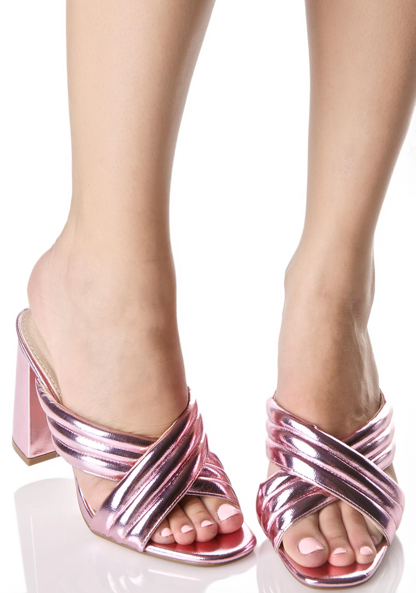 Rose Frances Heeled Mules
