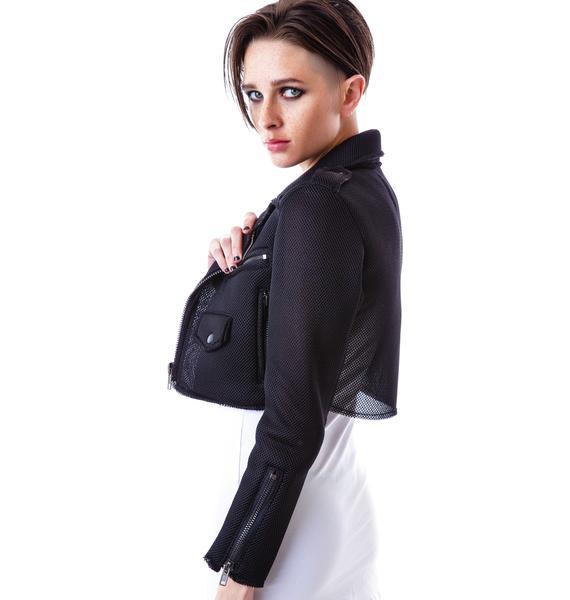 UNIF Mesh Neo Crop Moto Jacket