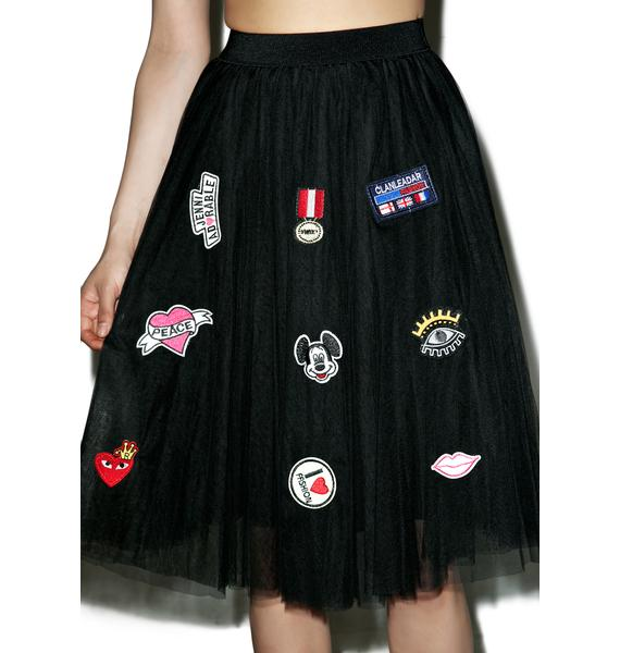 Patch Princesa Tulle Skirt