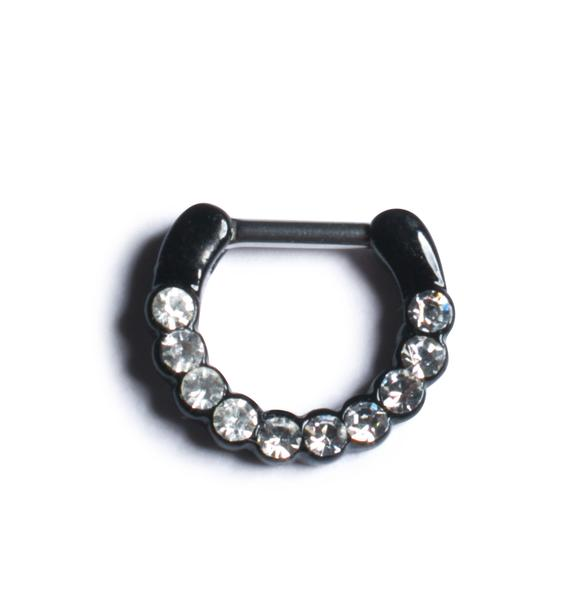 Diamonds Dancing Septum Ring