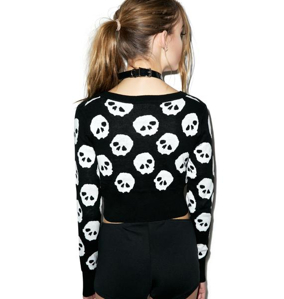 Scary Skullz Cropped Sweater