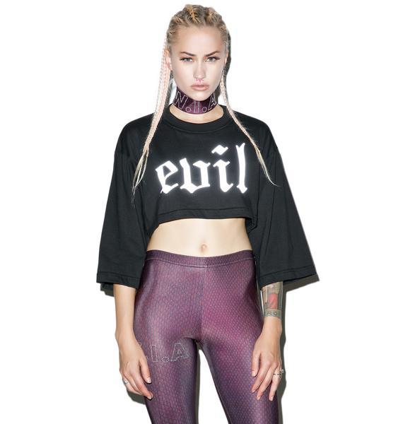 W.I.A Evil Reflective Crop Top