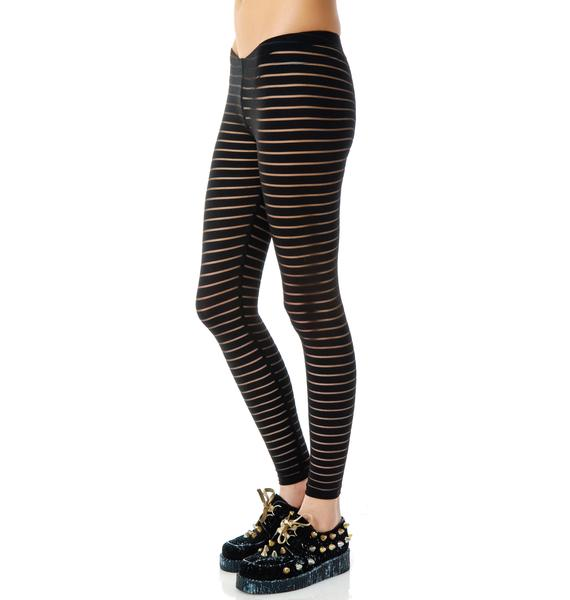 Lip Service Shadow Stripe Leggings
