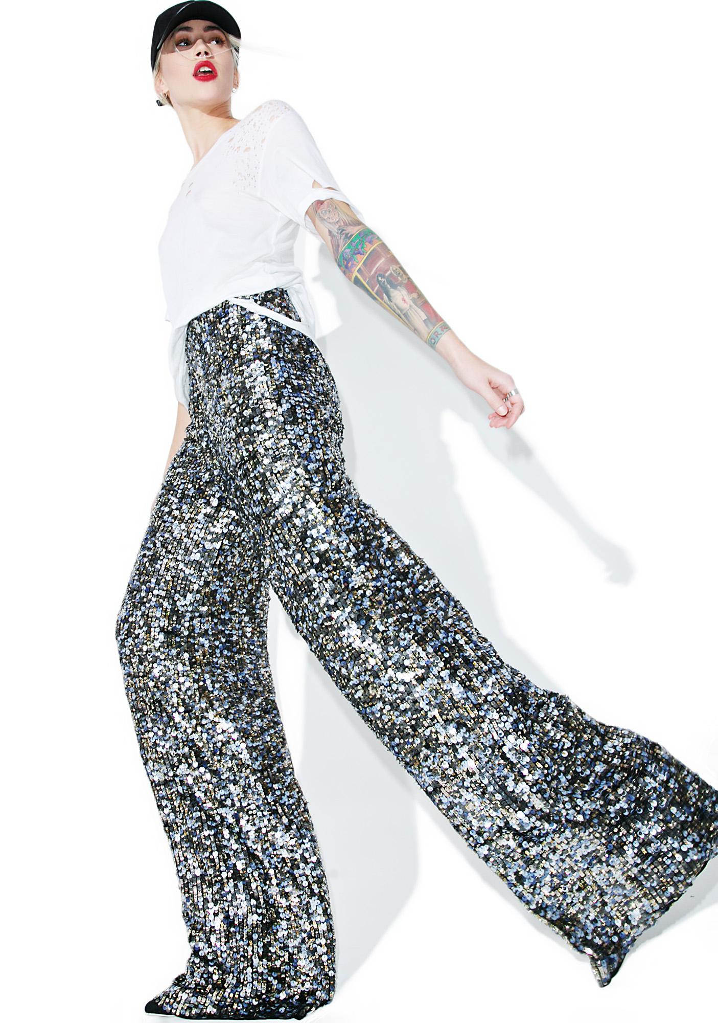 Kendall + Kylie Multi Sequin Pants