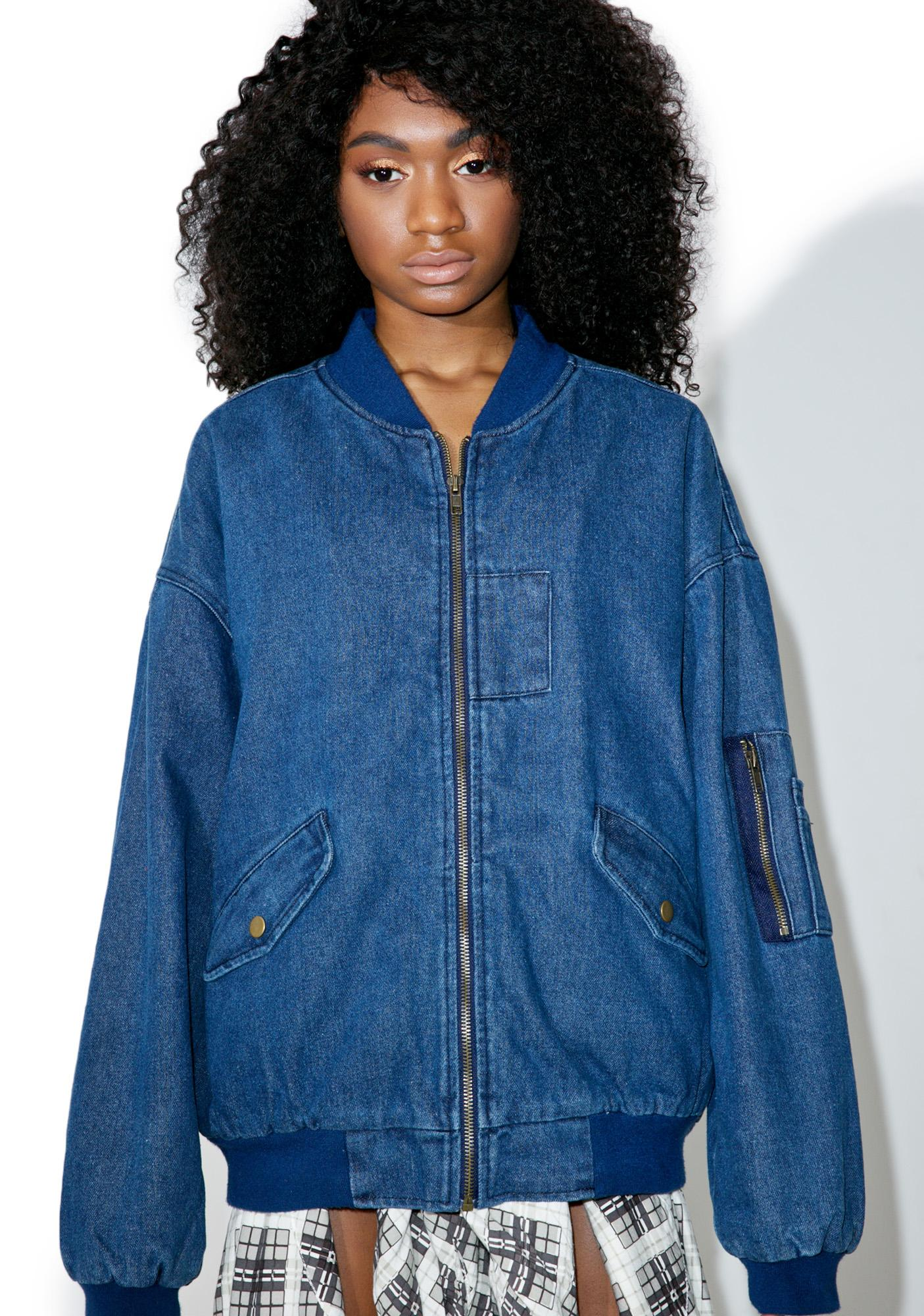 J.O.A Denim Bomber Jacket