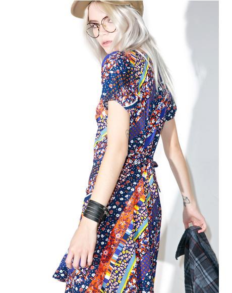 Floral Stripe Tahnee Dress
