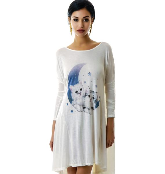 United Couture Midnight Meow Long Sleeve Dress