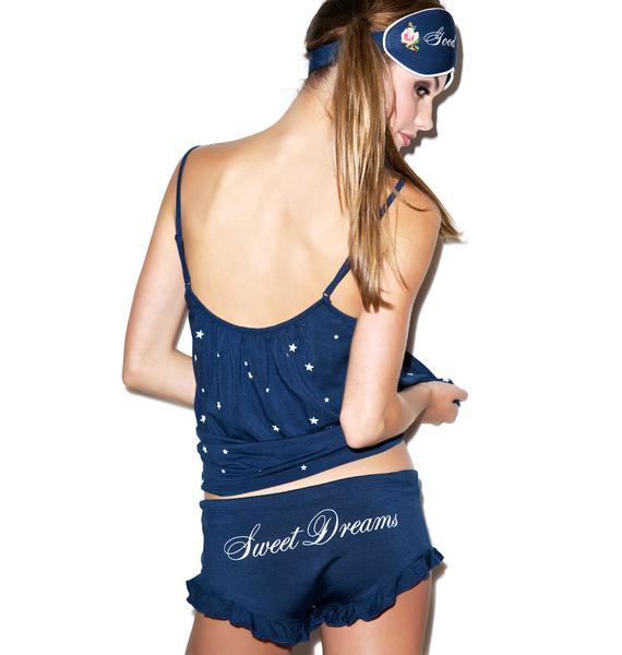 Wildfox Couture Starry Night Cami Shirt Set