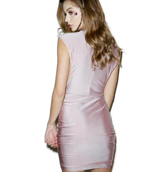 More Rose Metallic Dress