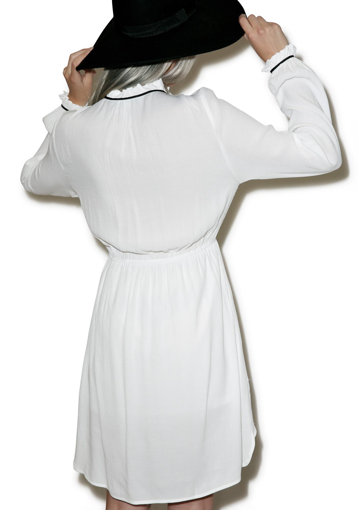 Vanille Tie Neck Dress