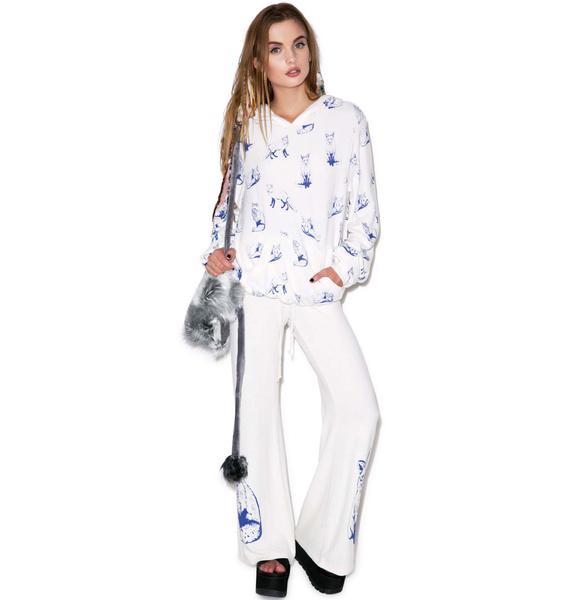 Wildfox Couture Fox Toile Malibu Pullover