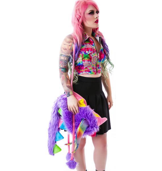 J Valentine Dragonheart Rainbow Hood