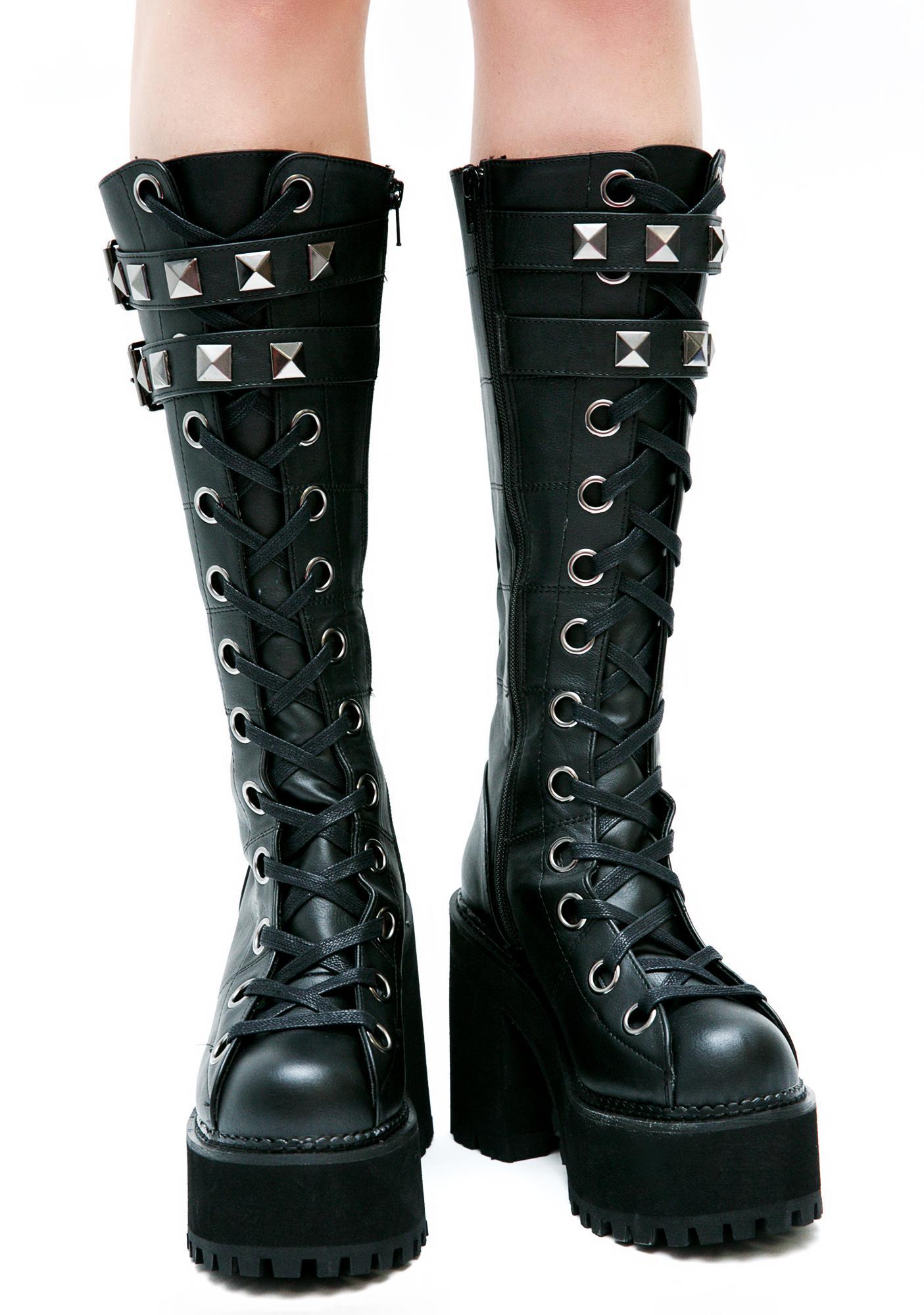Demonia Paranoia Platform Boots