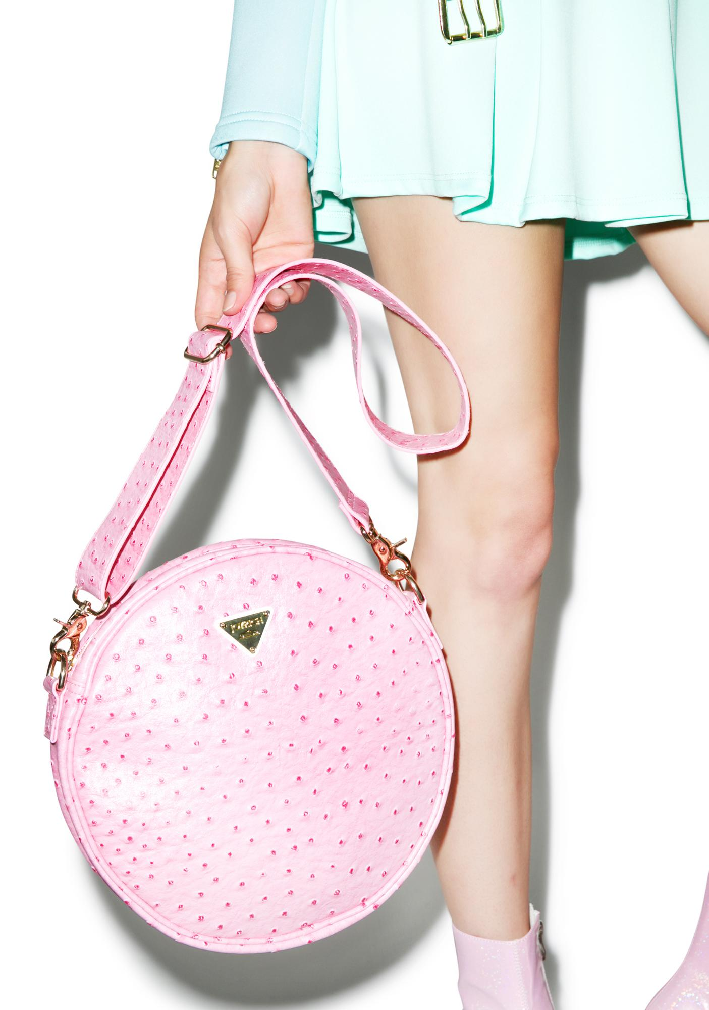 Joyrich Ostrich Circle Bag