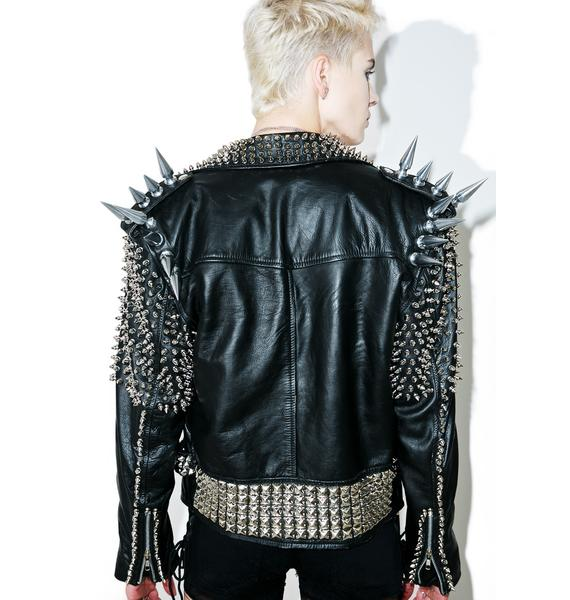 Hazmat Design Vintage Deadstock Giant Spike Leather Jacket