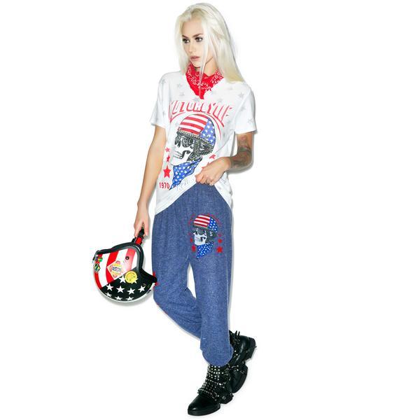 Lauren Moshi Tanzy Skull Helmet Sweatpants